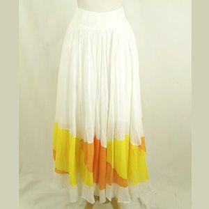 Free People Crinkle Cotton Boho Long Maxi Skirt